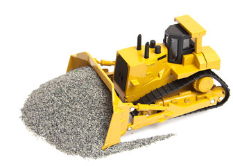 toy heavy bulldozer