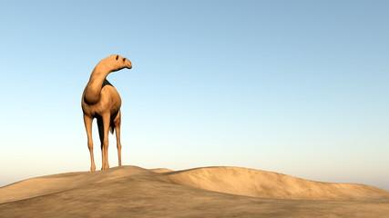 Camel looking behind - 3D render