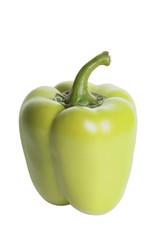 Зелёный болгарский перец изолированный на белом фоне