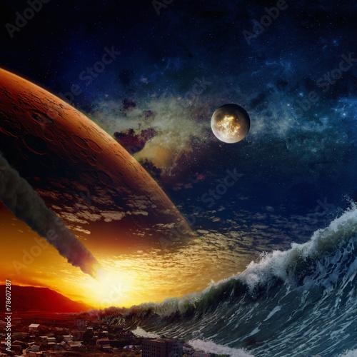 Leinwandbild Motiv End of world