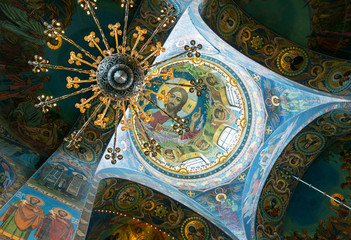 Ceiling of Church of the Savior on Spilled Blood, St Petersburg