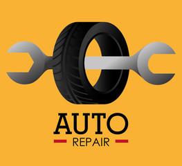 Tire design, vector illustration.