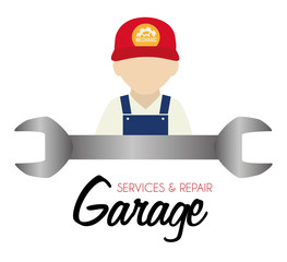 Garage design, vector illustration.