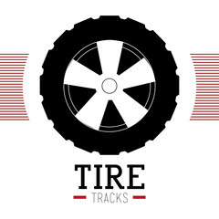 Tire design, vector illustration.