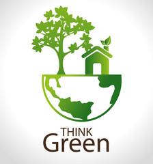 Ecology design, vector illustration.