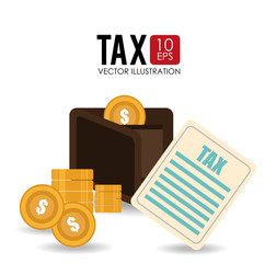 Tax design, vector illustration.