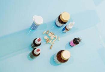 Medicinali sul tavolo