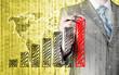 Zdjęcia na płótnie, fototapety, obrazy : Business man drawing a growing graph