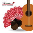 Obrazy na płótnie, fototapety, zdjęcia, fotoobrazy drukowane : Flamenco design, vector illustration.