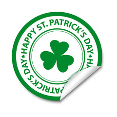 St Patrick's day sticker