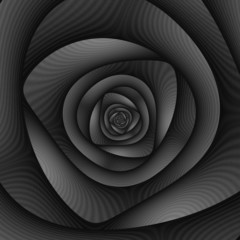 Spiral Labyrinth in Monochrome