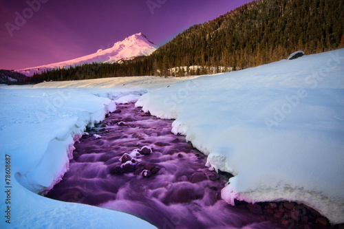 Tuinposter Snoeien Majestic View of Mount Hood in Oregon, USA