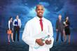 Black medical doctor man.