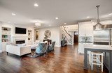 Beautiful New Furnished Living Room in New Luxury Home - 78609622
