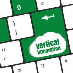 Computer keyboard with vertical integration words