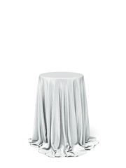 White round table and cloth