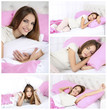 Collage of photos with young beautiful woman sleeping in bed