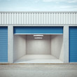 Empty storage unit with opened door - 78610218