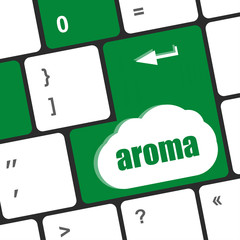 Button with aroma on Computer Keyboard key