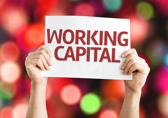 Working Capital card with colorful background