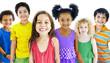 Children Kids Happiness Multiethnic Group Cheerful Concept - 78611089