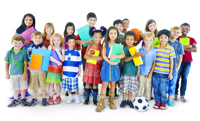Diversity Childhood Happiness Innocence Friendship Concept