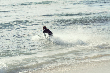 Hitting waves