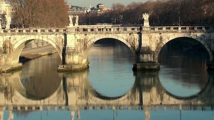Bridge of Hadrian (Ponte Sant'Angelo). Rome