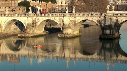 Bridge of Hadrian (Ponte Sant'Angelo). Rome