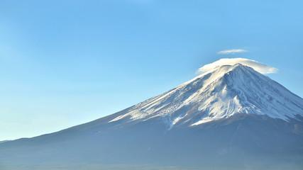 Mount fuji in autumn at kawaguchiko lake japan