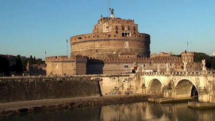 Castle of the Holy Angel from the other side of the Tiber river