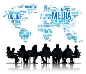 Social Media Internet Connection Global Communications