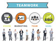 Business People Digital Device Connection Teamwork Concept
