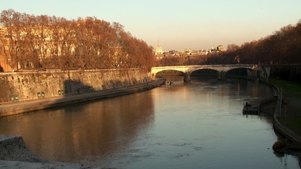 Bridge Ponte Umberto I over the river Tiber. Rome