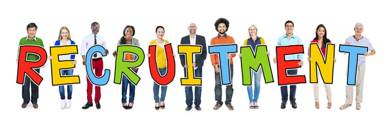Multiethnic Group People Recruitment Hiring Concept