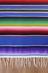 Mexican serape blanket
