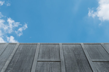 Cement wall on sky