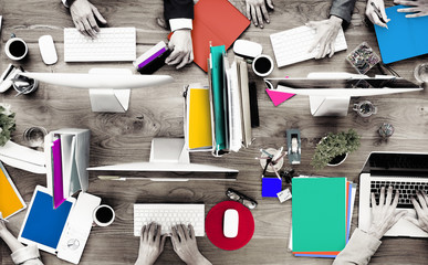 Group of Business People Working Office Desk Concept