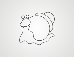 snail line drawing