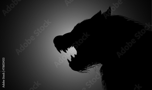 A werewolf lurking in the dark - 78613433