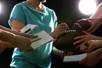 Autographs by American football star