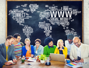 Social Media Internet Connection Global Communications Cocnept