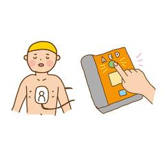 こども AED イラスト