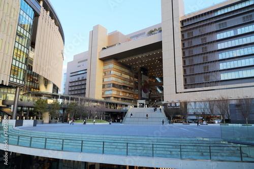 Foto op Plexiglas Treinstation JR大阪駅前