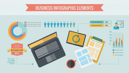 Business Infographic Elements.