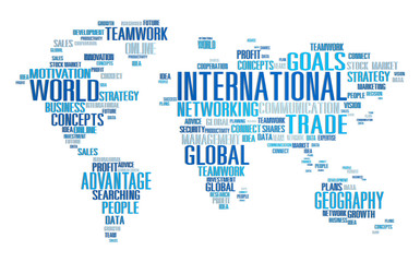 International World Global Network Globalization Concept
