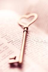 Valentine day, Key lock love concept