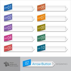 IInfographic Vector Arrow Button