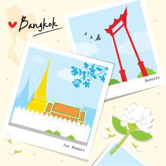 Bangkok Thailand Place Landmark Travel Temple Wat cartoon vector