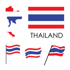 Thailand Flag illustration vector